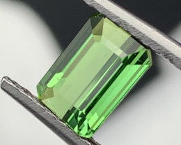 """""""NR""""1.80 Cts Top Quality Natural Parrot Green Color Tourmaline"""