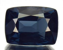 1.07 Cts Natural Spinel Deep Blue Cushion Cut Burmese