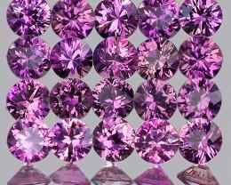1.80 mm Round  30pcs Unheated Purplish Pink Sapphire [VVS]