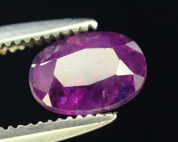 Untreated 0.90 ct Pink Corundum Kashmir Sapphire