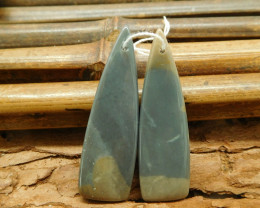 Long dangle succor jasper earring pairs (G1795)
