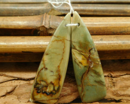 Triangle picasso jasper earring beads (G1796)