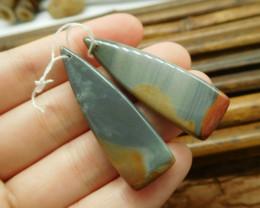 Long succor jasepr earring pairs (G1797)