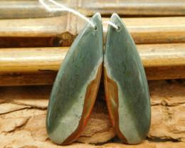 Succor jasper earring bead stone bead (G1801)