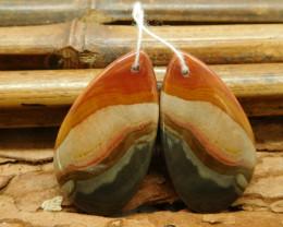 Succor jasper earring beads (G1802)