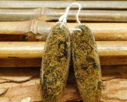 Chouhua jasper earring bead (G1810)