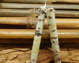 Chouhua jasper earring bead (G1815)