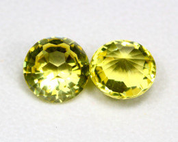 Lemon Quartz 15.94Ct 2Pcs Natural Brazilian VVS Lemon Quartz ER01