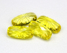 Lemon Quartz 26.79Ct 4Pcs Natural Brazilian VVS Lemon Quartz ER02