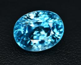 6.80 Ct Amazing Color Natural Blue Zircon