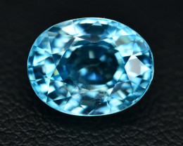 6.05 Ct Amazing Color Natural Blue Zircon