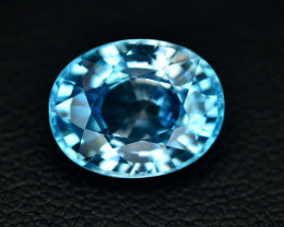 6.55 Ct Amazing Color Natural Blue  Zircon