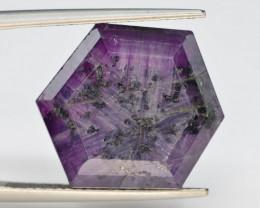 Rarest 18.45 ct Trapiche Pink Kashmir Sapphire ~ G AQ
