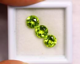 2.81cts Natural Apple Green Colour Peridot Pair / BIN313