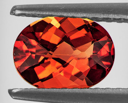 7x5 mm Oval Checker 0.66ct Red-Orange Andesine [VVS]