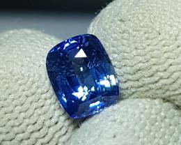 CERTIFIED 2.04 CTS NATURAL STUNNING CORNFLOWER BLUE SAPPHIRE SRI LANKA