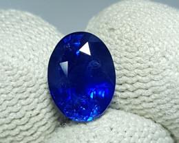 CERTIFIED 2.55 CTS NATURAL STUNNING ROYAL BLUE SAPPHIRE SRI LANKA