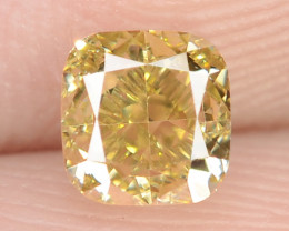 0.50 Carat Untreated Natural Fancy Intense Green Color Diamond