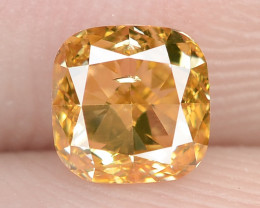 0.51 Carat Untreated Natural Fancy Intense Orange Color Diamond VS1
