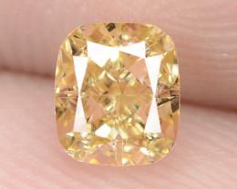 0.51 Carat Untreated Natural Fancy Intense Yellow Color Diamond VS1