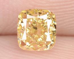 0.50 Carat Untreated Natural Fancy Vivid Yellow Color Diamond VS1