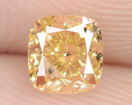 0.52 Carat Untreated Natural Fancy Intense Yellow Color Diamond VS1
