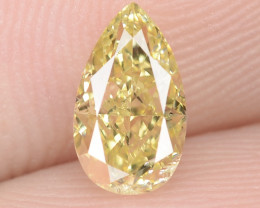 0.60 Carat Untreated Natural Fancy Intense Yellow Color Diamond VS1