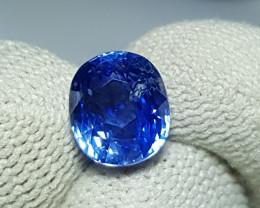 NO HEAT CERTIFIED 3.81 CTS NATURAL STUNNING CORNFLOWER BLUE SAPPHIRE SRI LA