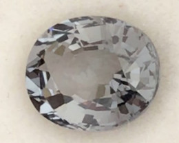 2.55ct Silver Grey Oval Spinel - Burma - H712