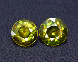 1.80 Carats Round Full Fire Sphene Titanite Gemstone From Pakistan