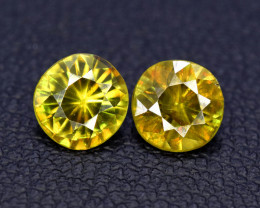 1.50 Carats Round Full Fire Sphene Titanite Gemstone From Pakistan