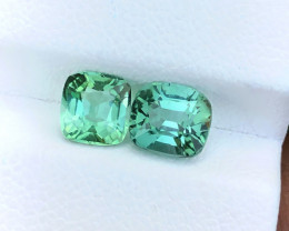 2.20 Ct Natural Greenish Blueish Transparent Tourmaline Gems Pairs