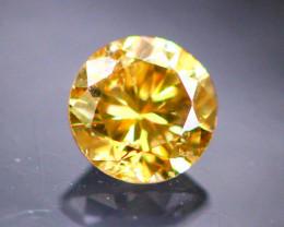 Diamond 0.18Ct Natural Brilliant Round Cut Fancy Color Diamond 30CF11