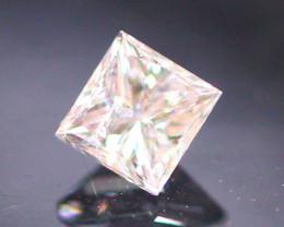 Diamond 0.13Ct Natural Princess Cut Fancy Color Diamond 30CF21