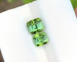 2.20 Ct Natural Greenish Blue Transparent Tourmaline Gemstones Parcels