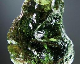 Very Glossy - RARE - Vibrant green Moldavite