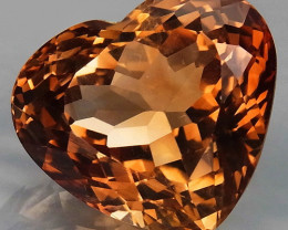 14.54Ct. Natural Topaz Brazil Heart Shape Facet Superior