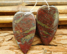 Natural dragon bloodstone love pair jewelry (G1824)