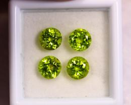 4.05cts Natural Apple Green Colour Peridot Lots/ BIN358