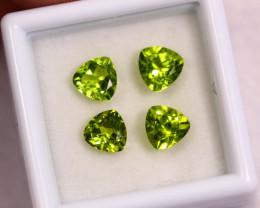 3.36cts Natural Apple Green Colour Peridot Lots/ BIN360