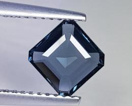 1.26 ct Top Quality Gem  Square Cut Natural Purplish Blue Spinel