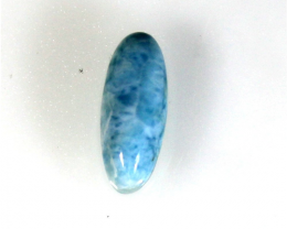Unusual Pattern Natural Sky Blue Larimar Cabochon 24x10x7mm 3.2g