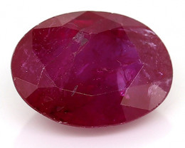 0.90 Carat Oval Ruby: Pinkish Red