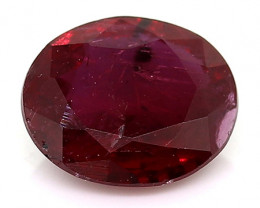 0.48 Carat Oval Ruby: Rich Red