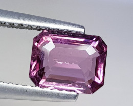 1.40 ct AAA Quality Gem  Octagon Cut Natural Purple Pink  Spinel