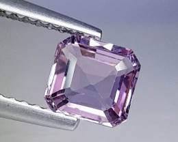 1.11 ct Top Quality Gem  Octagon Cut Natural Pinkish Green Spinel