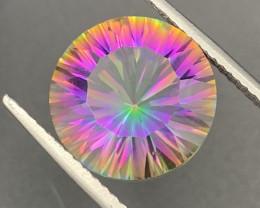 """NR""11.10 Cts!! 15mm Amazing Round  Natural Mystic Quartz Master Cut"