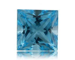 16 ct Genuine 14x14 mm Square Cut Sky Blue Topaz