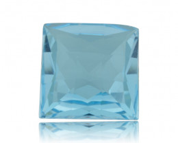 13ct Square Checkerboard Sky Blue Topaz- $1 No Reserve Auction