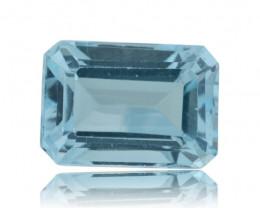 9 ct Genuine 14x10 mm Emerald Cut Sky Blue Topaz - $1 No Reserve Auction